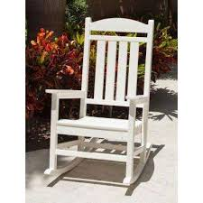 white outdoor furniture. Presidential White Patio Rocker Outdoor Furniture