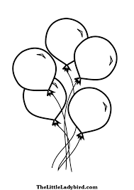 Small Picture Balloons Coloring Pages for Children Barriee
