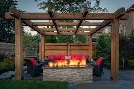 Outdoor Fire Pit Designs Under Pergola Outdoor Fire Pits Fireplaces Grills Outdoor Fire Pit Designs Gazebo With Fire Pit Fire Pit Under Pergola
