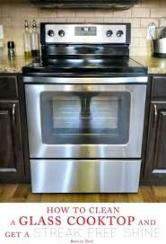 clean glass cooktop vinegar clean glass clean glass stove top with vinegar and baking soda