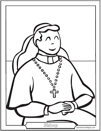 Small Picture Bishop Coloring Page Pope Cardinal Bishop