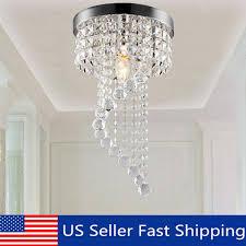 modern elegant crystal pendant light fixture led ceiling hanging lamp chandelier