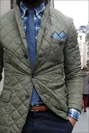 How to Wear a Quilted Blazer (10 looks) | Men's Fashion & Wear a quilted sport coat with navy chinos for drinks after work. Adamdwight.com