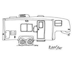 Coloring Pages Of 5th Wheel Camper Trailers Sketch Coloring Page