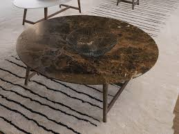 round marble coffee table tomo marble coffee table by désirée divani