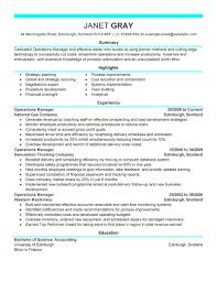 best operations manager resume example livecareer create my resume