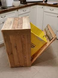 garbage can cabinet plans garbage can holder out pallet wood