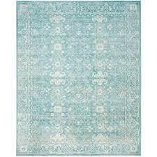 safavieh evoke light blue ivory 8 ft x 10 ft area rug
