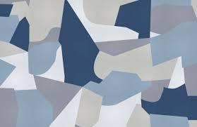 blue grey camo shapes wallpaper mural