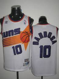 Mitchell Suns Bleandro Barbosa White Stitched Ness amp; 10 Nba Jersey Throwback
