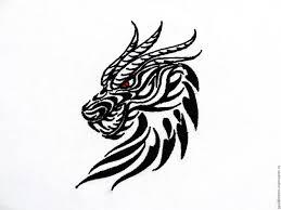 драконы картинки чёрно белые
