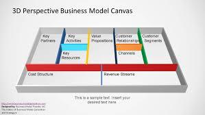 Revenue Model Template 3d Perspective Business Model Canvas Powerpoint Template Slidemodel