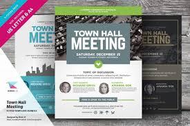 Meeting Flyer Design Town Hall Meeting Flyer Bundle Placing Schemes Color