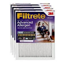 Filtrete 20x25x1 Healthy Living Advanced Allergen Reduction Hvac Furnace Air Filter 1500 Mpr Pack Of 4 Filters