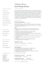 Resume Format For Hotel Management Hotel Manager Resume 2 Resume