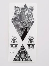 Tiger Triangle Design Tattoo Sticker