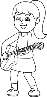 Small Picture Girl Playing Guitar Playing The Guitar Coloring Page Wecoloringpage