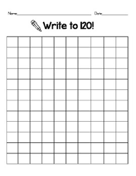 Blank 120 Chart 120 Chart Hundreds Chart Printable