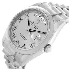rolex president day date 18k white gold mens watch 118209 in rolex president day date 18k white gold mens watch 118209