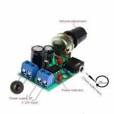 <b>LM386 Mini</b> Audio Power Amplifier Board Adjustable Volume <b>DC 3V</b> ...