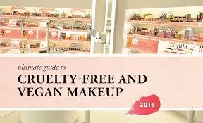 ultimate guide to free vegan makeup brands 2016