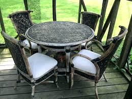 4 chair patio set 4 chair patio set wicker patio set with 4 chairs and round