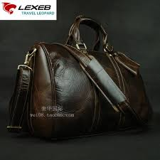 lexeb full grain leather business travel duffle for men overnight weekender bag carry on luggage top quality large coffee