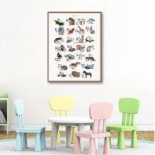 2020 alphabet with animals prints