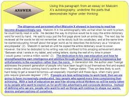 critical thinking what why and how ppt video online  answer using this paragraph from an essay on malcolm x s autobiography underline the parts that