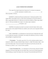 Template Lease Lease Termination Agreement Template Tellers Me