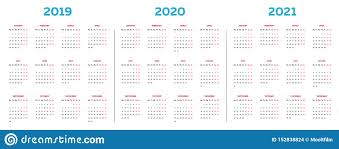 Plain Calendar 2020 The 2019 2020 2021 Calendar Template With Classical Monthly