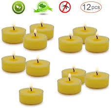 Abarli Tea Lights In The Dark Set Of 12 Citronella Tealight Candles With Clear Cup Burn 4 Hour