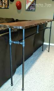 Pipe Furniture Diy Industrial Pipe Table Tempting Thyme