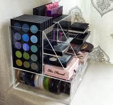 Cosmetics Organizer #1 Side View. Measurements: length/height/depth  13.25x9.5x8.5