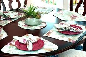 wedge placemats shaped for round tables table light green tropical pattern canada uk
