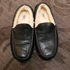 ugg ascot leather slipper mens 9 will fit women m 5bb55e90619745ce4f01fc0f