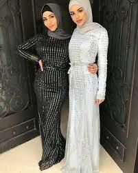 Muslim Women Abaya Women Sequin Long Maxi Dress Cocktail Party Evening Prom  Gown | eBay