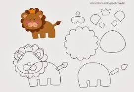 Safari Animals Template Felt Jungle Animals Template Felt Animal Patterns Stuffed