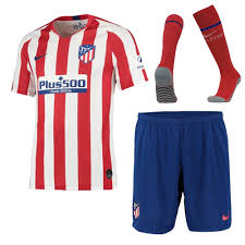 The atletico madrid home kit is one of the most like kits in the spanish la liga. Shop 19 20 Atletico Madrid Home Whole Kit Shirt Short Socks Cheap Soccer Jerseys For Sale Gogoalshop