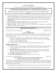 Easy Resume Template With Entry Level Assistant Principal Resume