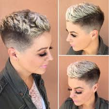 Hair Style Tip womens textured pixie with taper fade and platinum frosted tips 6594 by stevesalt.us