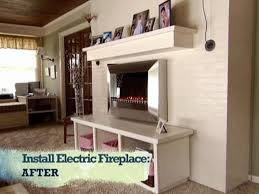 electric fireplace insert installation. Install An Electric Fireplace With Custom-Built Mantel And Hearth Insert Installation H