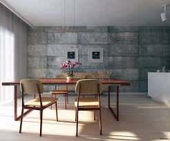 Small Picture Or concrete wall behind dining table Utilitarian Dining Room