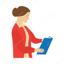 woman reading a book teacher ilration elements for design vector by 77sch