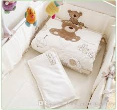 baby sheet sets promotion embroidery cot baby bedding set crib bed linen baby bed