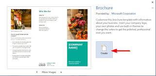 How Do You Make A Brochure On Microsoft Word 2007 Make A Brochure On Word Under Fontanacountryinn Com