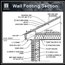 Autocad Kitchen Design Impressive CAD Details CollectionWall Footing Section】 Download CAD Details