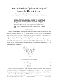 Microwave Horn Design Pdf New Method For Optimum Design Of Pyramidal Horn Antennas