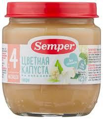 <b>Пюре Semper цветная капуста</b> (с 4 месяцев) 125 г, 1 шт — купить ...