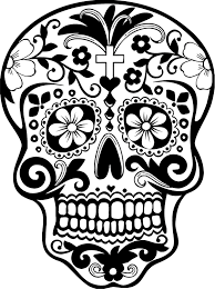 Sugar Skull Wall Vinyl Decal Sticker